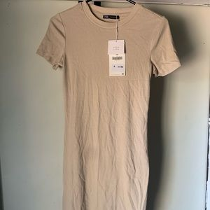 Zara T-shirt Ribbed Dress